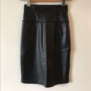 Wilfred Leather High Waist Skirt